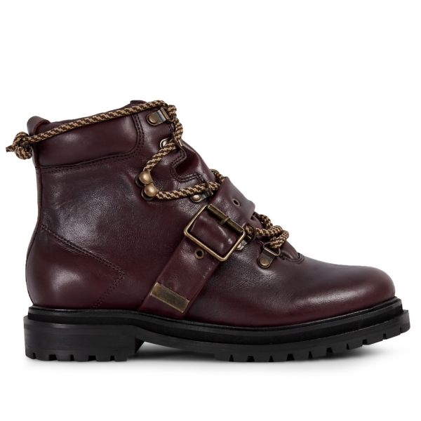 Womens Piper Bordeaux Boot Side