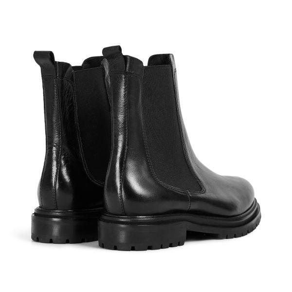 Hudson London Womens Beador Leather Black Chelsea Boot Detail