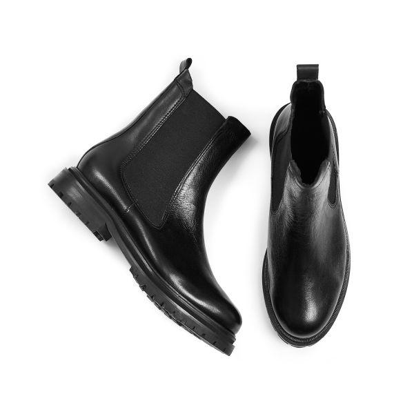 Hudson London Womens Beador Leather Black Chelsea Boot Top