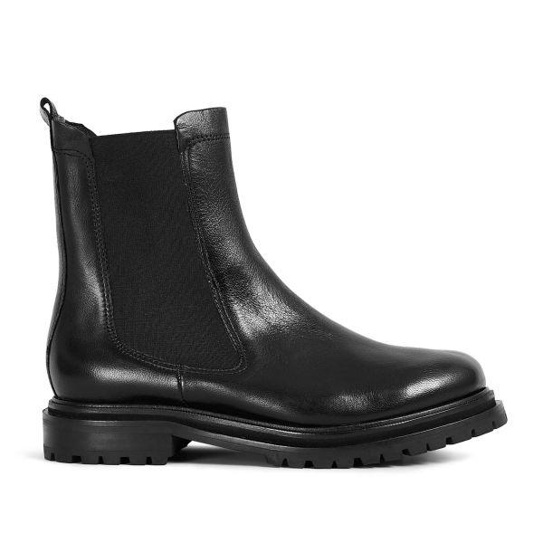 Hudson London Womens Beador Leather Black Chelsea Boot Side
