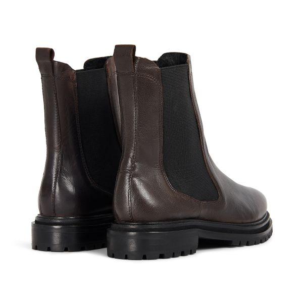 Hudson London Womens Beador Leather Brown Chelsea Boot Detail
