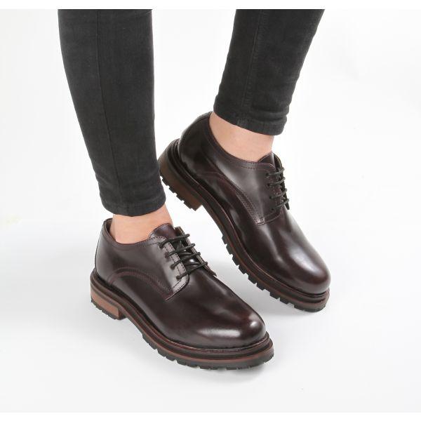 Hudson Womens Hollin Hi Shine Bordeaux Shoe Lifestyle