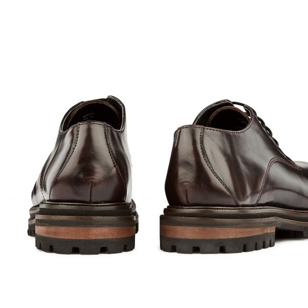 Hudson Womens Hollin Hi Shine Bordeaux Shoe Detail
