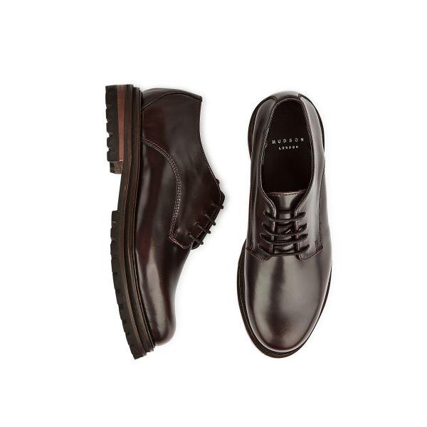 Hudson Womens Hollin Hi Shine Bordeaux Shoe Top