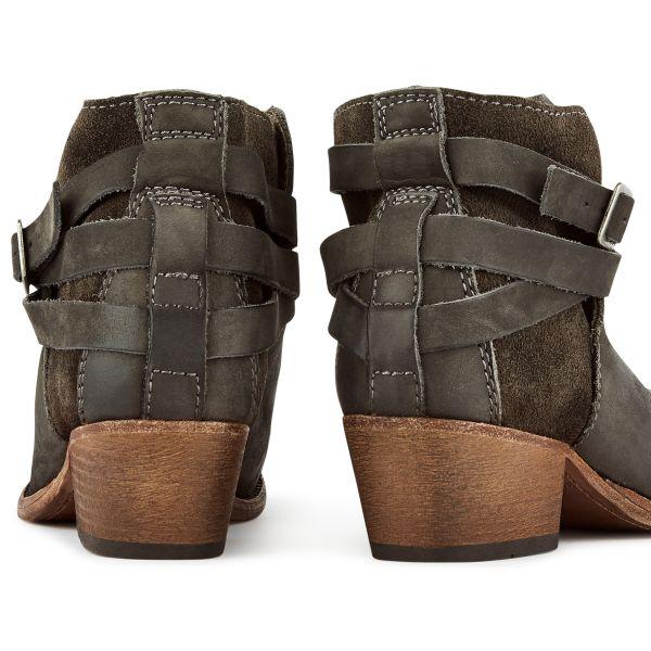Hudson London Womens Horrigan Smoke Heeled Boot Detail