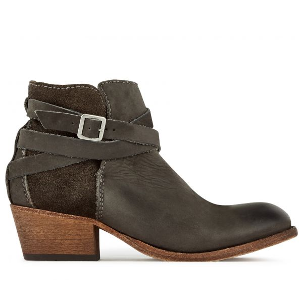 Hudson London Womens Horrigan Smoke Heeled Boot Side
