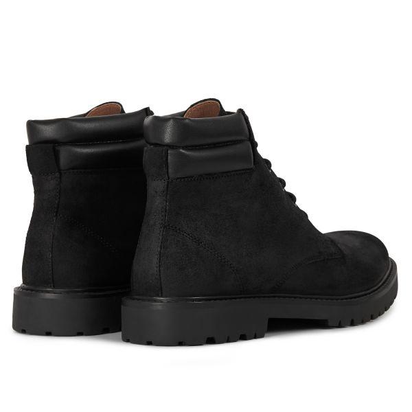 Mens Handel Suede Black Cuff Boot Detail