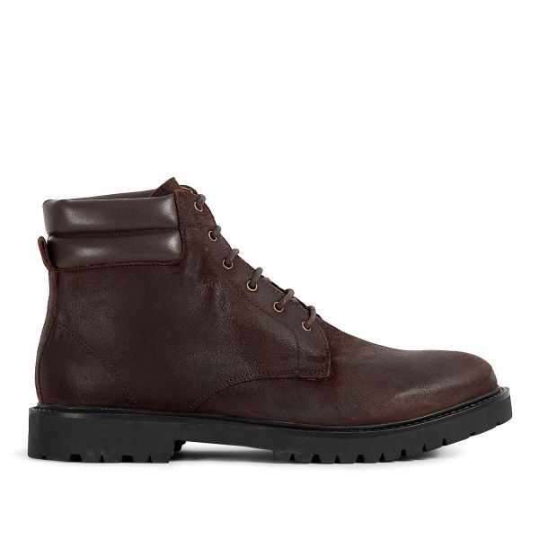 Mens Handel Suede Brown Cuff Boot Side