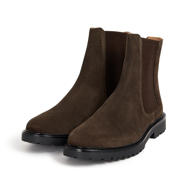 H by Hudson Brahms Suede Brown Chelsea Boot Three Quarter