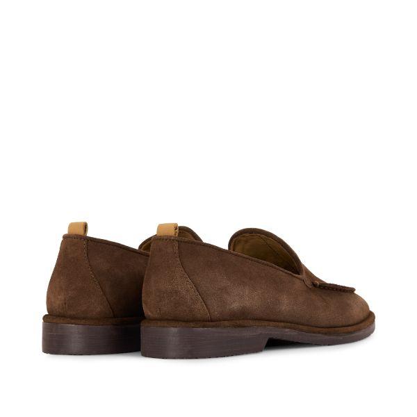 Hudson London Mens Calvi Suede Brown Loafer Detail