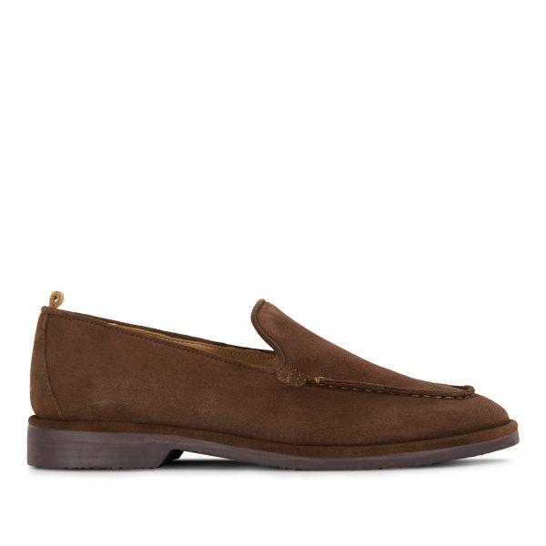Hudson London Mens Calvi Suede Brown Loafer Side