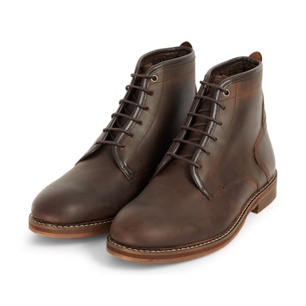 Mens Leland Brown Lace Up Boot Three quarter