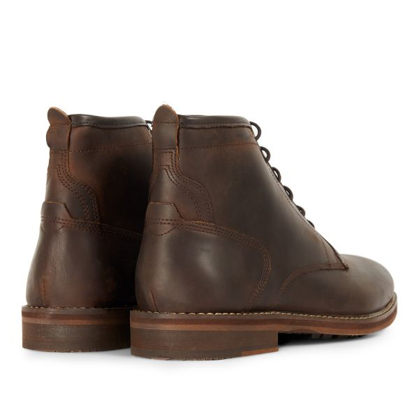 Mens Leland Brown Lace Up Boot Detail