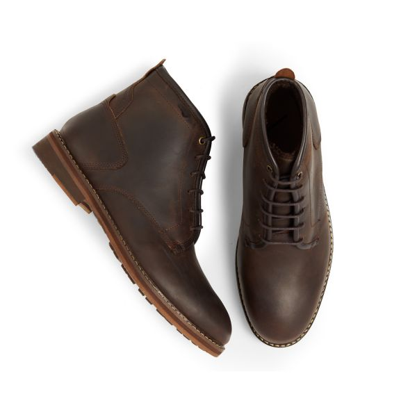 Mens Leland Brown Lace Up Boot Top
