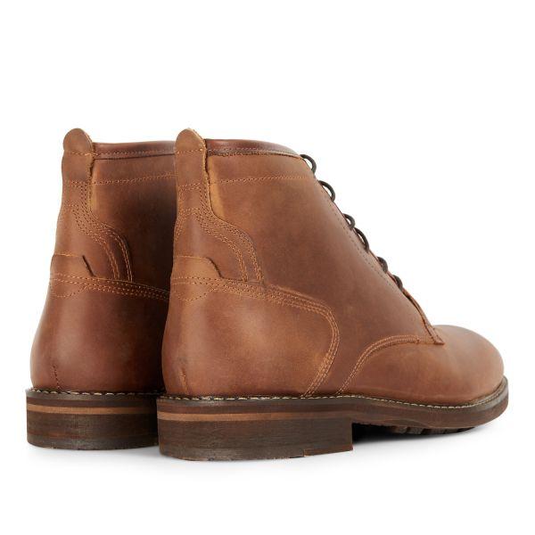 Mens Leland Tan Lace Up Boot Detail