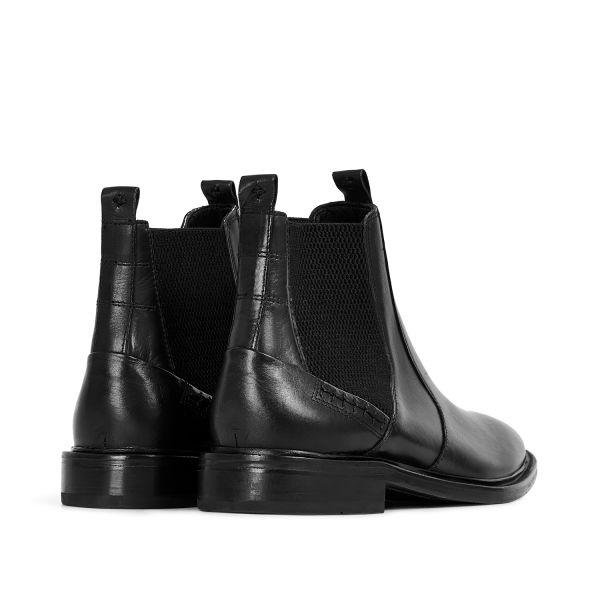 Hudson London Mens Keils Black Chelsea Boot Detail
