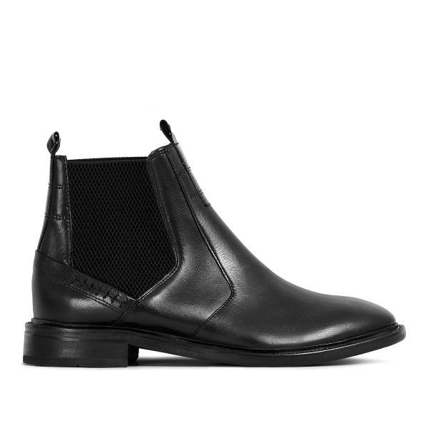 Hudson London Mens Keils Black Chelsea Boot Side
