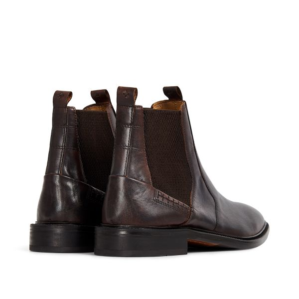 Hudson London Mens Keils Brown Chelsea Boot Detail