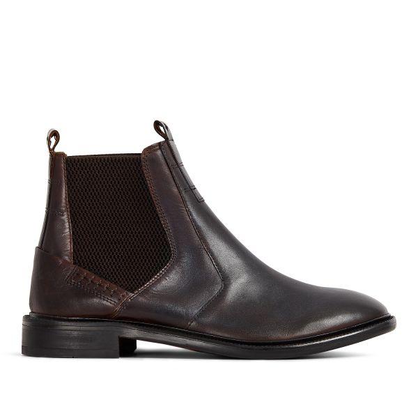 Hudson London Mens Keils Brown Chelsea Boot Side