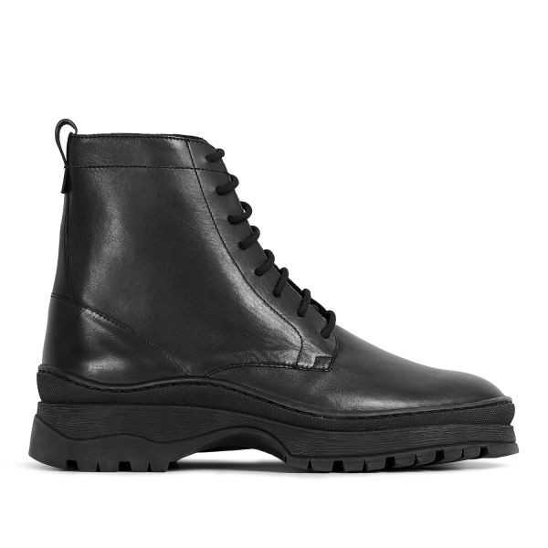 Hudson London Lucas Leather Black Lace Up Boot Sole