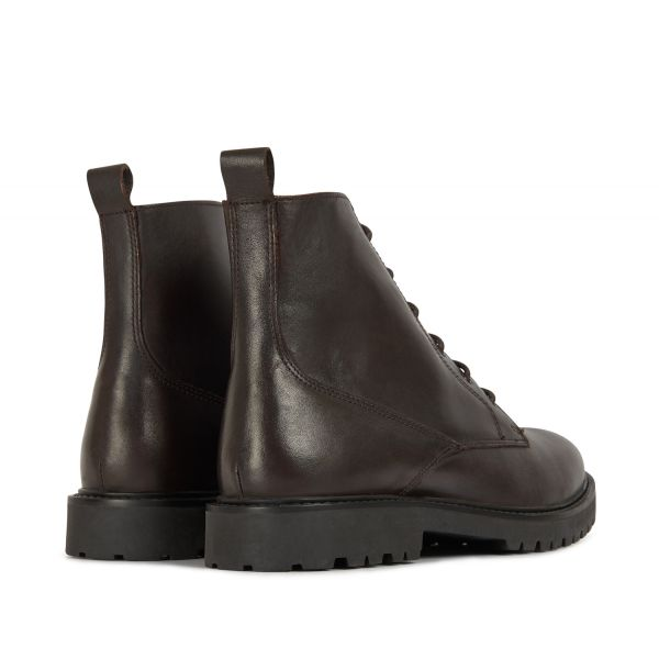 H by Hudson Mens Perry Leather Brown Boot Detail