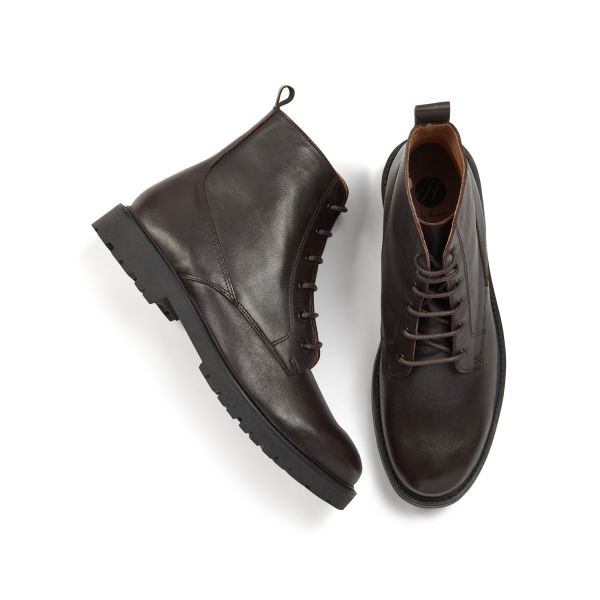 H by Hudson Mens Perry Leather Brown Boot Top