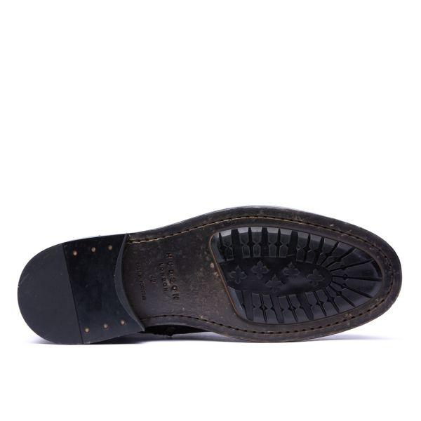 Hudson London Mens Vegetable Tanned Rune Black Boot Sole