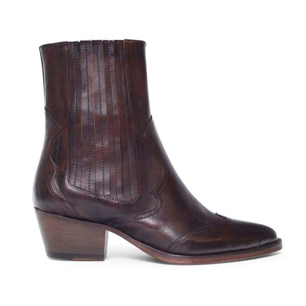 Womens Sienna Brown Chelsea Boot Side