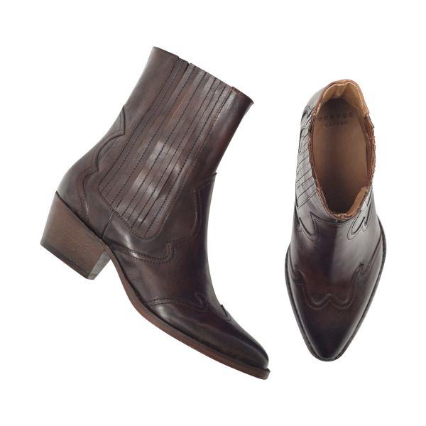 Womens Sienna Brown Chelsea Boot Top