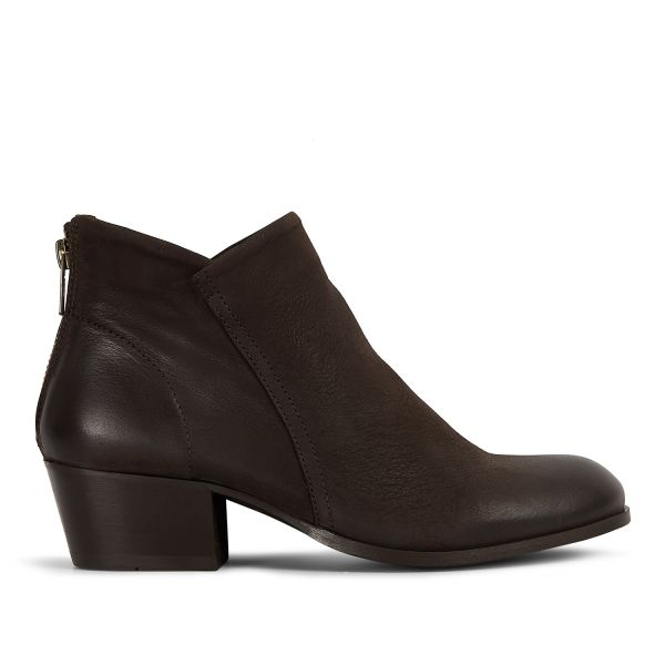 Womens Apisi Tumbled Brown Boot Side