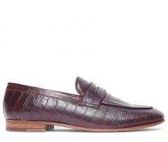 Calibro Croc Brown Loafer