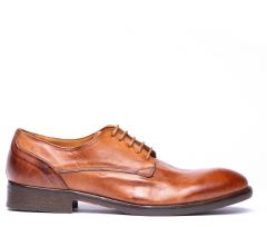 Dorsay Tan Derby Shoe