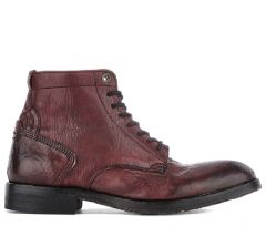 Lace Up Boot Gypsum Bordeaux Side View