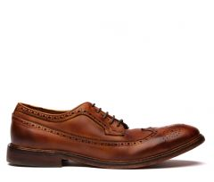Claude Drum Dye Tan Brogue Shoe