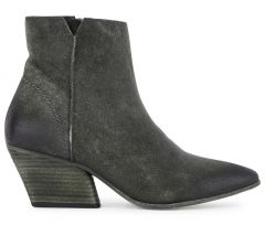 Zip Heeled Boot Mystic Suede Grey Side VIew