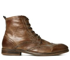Brogue Boots Simpson Tan Side View