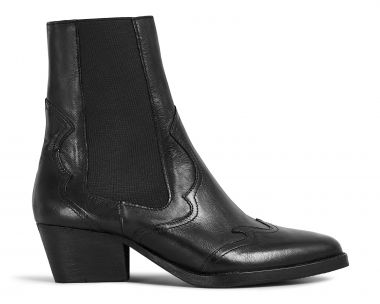 Hudson London Womens Darcey Leather Black Chelsea Boot Side
