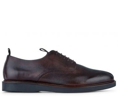 Leather Shoe Barnstable Brown Side View