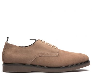 Mens Barnstable Suede Taupe Shoe Side