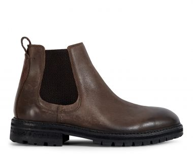 Hudson London Mens Canford Leather Brown Chelsea Boot Side