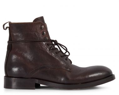 Mens Yew Brown Lace Up Boot Side