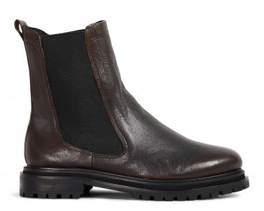 Hudson London Womens Beador Leather Brown Chelsea Boot Side