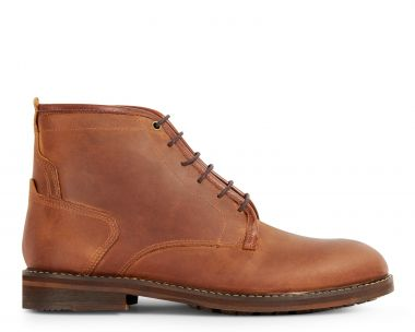 Mens Leland Tan Lace Up Boot Side