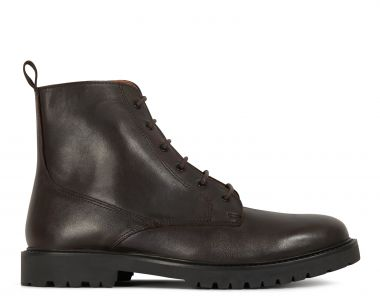 H by Hudson Mens Perry Leather Brown Boot Side