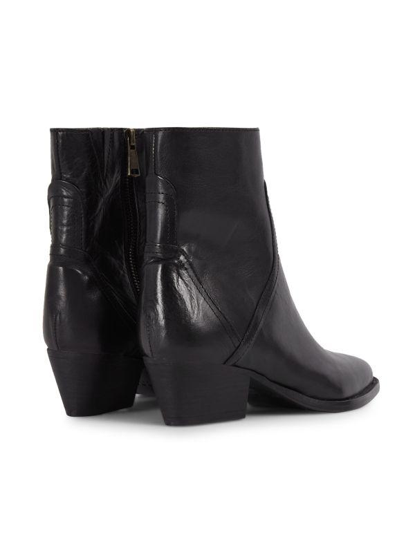 Womens Beryl Black Boot Detail