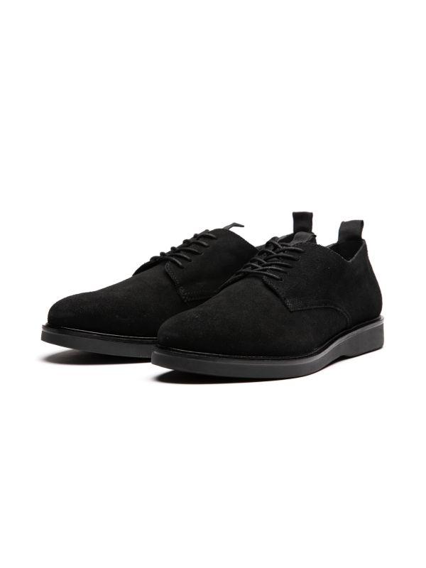 Mens Barnstable Suede Black Shoe Three Quarter