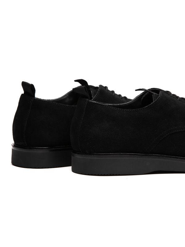 Mens Barnstable Suede Black Shoe Detail