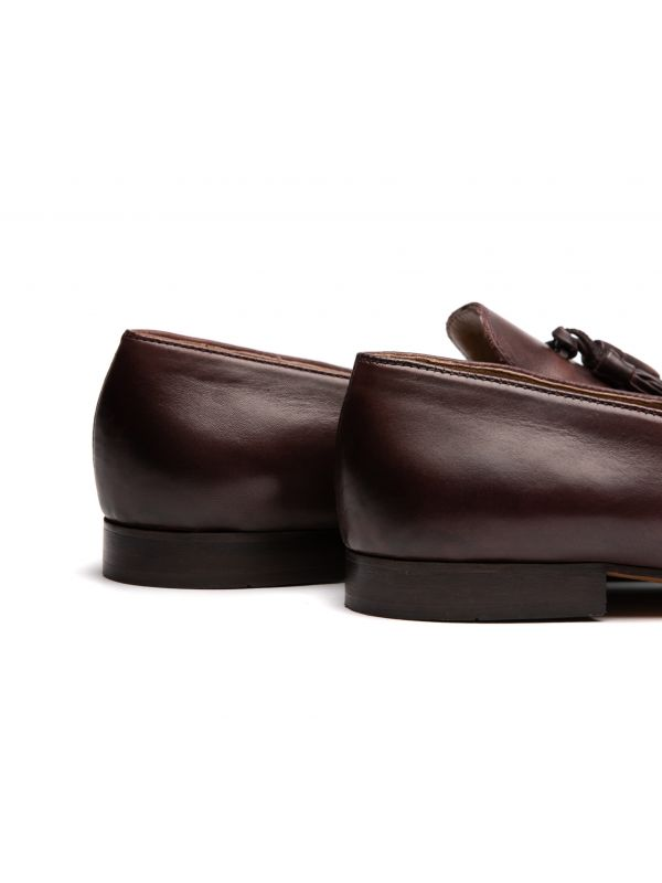 Mens Bolton Tassle Brown Loafer Detail