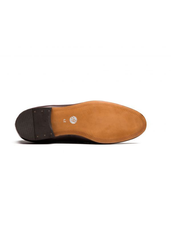 Mens Bolton Tassle Brown Loafer Sole