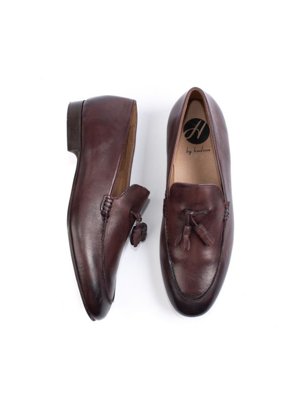 Mens Bolton Tassle Brown Loafer Top